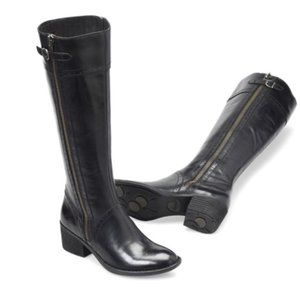 Born Poly Distressed Riding Boot in Black Size 8M